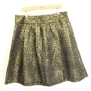 Lane Bryant Plus Size Skirt sz 14 black gold